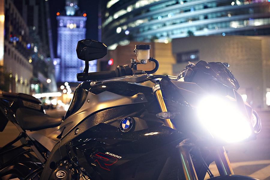 BMW s1000r Warszawa headlight